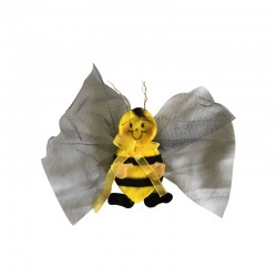 BEE WITH TULLE AND BROOCH