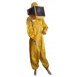 SUIT WITH SQUARE MASK IN YELLOW