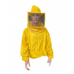 SHIRT WITH SQUARE MASK IN YELLOW