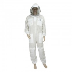 WHITE VENTILATED JUMPSUIT