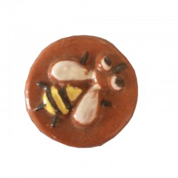 ENAMELED ROUND TERRACOTTA SEAL