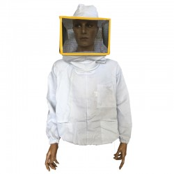 SHIRT WITH SQUARE MASK IN WHITE