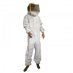 SUIT WITH SQUARE WHITE MASK