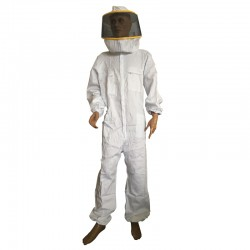 SUIT WITH ROUND MASK WHITE